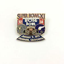 Super Bowl XI Pin - Raiders vs. Vikings January 9th 1977 Pasadena California
