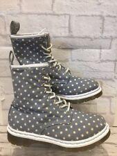 "Women's Dr Martens Boots uk5 eu38 Polka Dot ""Castel"" Marten bateau Doc"