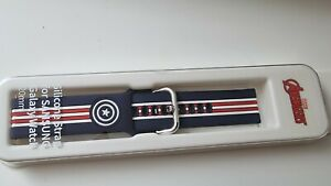 Official Samsung Galaxy Watch (42mm) Silicon Marvel Strap (20mm) Captain America