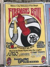 Lot Of 6 Vintage Firemans Ball Posters - Great Artwork And Extremely Rare !!