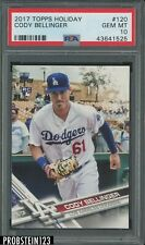 2017 Topps Holiday Cody Bellinger Los Angeles Dodgers RC Rookie PSA 10