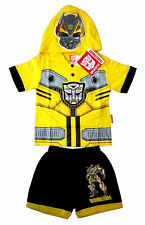 TRANSFORMERS AUTOBOTS BUMBLEBEE kids boys yellow costume party outfit Size L 4y