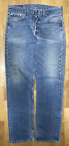 Vintage 1990s Levi's Mens' 501 Jeans 32x32 Red Tab WPL 423 Made in USA No Holes