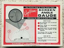 ByChrome Screen Angle Gauge Vintage 1965 w/ Box