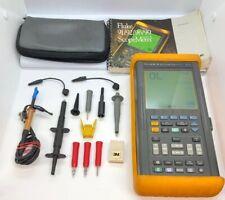 Fluke 99 Scopemeter Series ii 2 Ch 50Mhz Dual Input Oscilloscope w/ Accessories
