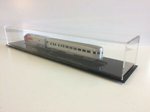 """Train Display case HO scale 24"""" long with black acrylic base"""