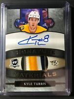 2018-19 The Cup Kyle Turris Signature Materials 3 Color Patch Auto /99