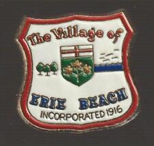 Village of Erie Beach Ontario Metal Pin Pinback - Very Good