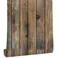 3D Rustic Wood Plank Wallpaper Self Adhesive Furniture Stickers Peel and Stick