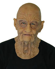 DOA OLD MAN SUPERSOFT FITTED MASK MOVING MOUTH PROFESSIONAL GRANDPA FANCY DRESS