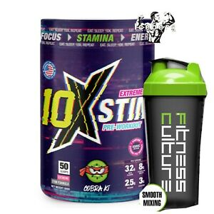 10x Athletic Pre Workout Extreme Stim 50 scoops! & SHAKER!!