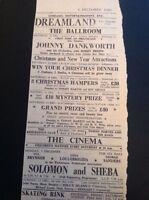 65-4 Ephemera 1960 Advert Margate Dreamland Johnny Dankworth Bobby Breen