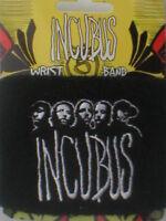 INCUBUS logo/black 2004 SWEATBAND official merchandise IMPORT - no longer made
