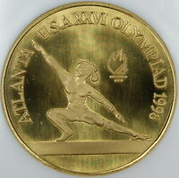 Rare 1996 Romania 100 Lei, Only 125 Minted, Brass Olympic Proof Coin