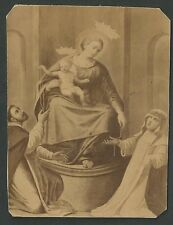 Estampa Fotografica del Rosario andachtsbild santino holy card santini