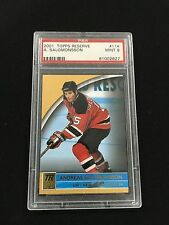 ANDREAS SALOMONSSON ROOKIE PSA 9 TOPPS RESERVE 2001 RC NJ DEVILS HOCKEY CARD