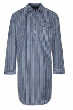 Mens Champion Brushed Cotton Nightshirt Five Sizes Medium Dark Blue Stripe