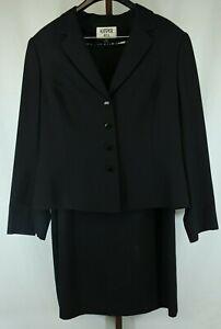 Kasper Womens Ladies Black 2 Piece Skirt Suit Size 16
