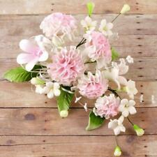 Pink Carnation Spray Bouquet Sugar flower wedding birthday cake decoration