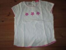 Tee-shirt Blanc et Rose,MC,T4ans,marque O.Ka.Ou,en TBE