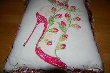 MANOLO BLAHNIK FOR LIBERTY CUSHION. COLLECTIBLE. UNUSED. LIMITED EDITION