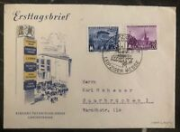 1954 East Leipzig  Germany DDR FDC First Day Cover Technological Fair