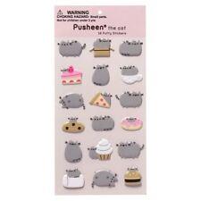 Gund NEW * Pusheen Food Puffy Stickers * 18 Stickers Cat Kitten Kitty Tabby