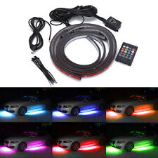 4pcs 7 Color 5050 LED Strip Under Car Tube underglow Underbody Neon Lights Kit