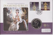 QEII COIN COVER PNC MERCURY 2012 LIFETIME OF SERVICE 2011 £5 COIN JUBILEE