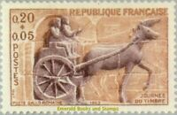 EBS France 1963 Stamp Day - Roman carriage - Journée du Timbre - YT1378  MNH**
