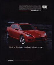 2004 MAZDA RX-8 Red Sports Car VINTAGE AD