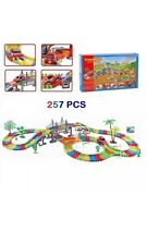 257 PCS FLEXIBLE VARIABLE CAR TRACK RACING SET BATTERY OPERATED FOR CHILDREN TOY