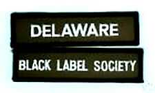 BLACK LABEL SOCIETY DELAWARE MEMBER FAN CLUB PATCH SET