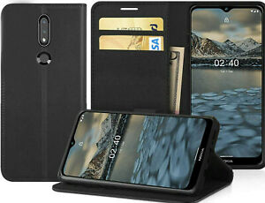 For Nokia 2.4 Case Cover, For Nokia 2.4 Pu Leather [Wallet Case] dark blue