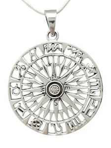 Intricate Star Sign Pendant Made from 925 Sterling Silver