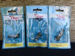 3 Titan TC Cutters MM-ACS MM-ACM MM-ACL Milling Engineering Metalworker Tool