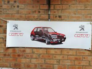 Peugeot 205 GTI 1.9  RED  large pvc  WORK SHOP garauge