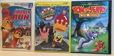 Chicken Run, Tom and Jerry, SpongeBob Squarepants: Set of 3 DVD Movie Collection