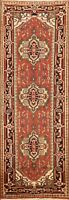 Geometric Traditional Oriental Runner Rug Wool Hand-knotted Hallway Carpet 3x8
