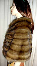 NOW -40%! Russischer Bargusin Zobel Bolero Stola Sable Stole S-M