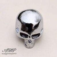 1 x Bouton Tete de Mort Q-Part Skull Knob I single Chrome 6mm KCSI-0401