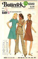 Vtg 1970s Butterick Sewing Pattern Women's DRESS TUNIC & PANTS 6582 Sz 14 UNCUT