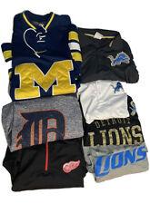 Detroit Sports Apparel Lot - Lions, Tigers, Wings, Nike, Reebok XL/2XL