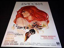 ISADORA karel reisz vanessa redgrave   affiche cinema 1968