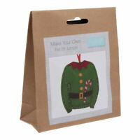 Christmas Elf Jumper Kit - Felt Sewing Xmas Crafts -1st Class Post