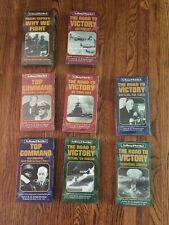 Lot of 8 WWII VHS Video Top Command - Winning World War 2 - 50th Anniversary