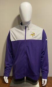 Nike Minnesota Vikings NFL Full Zip Jacket NKB6-008Y Men's Size Large