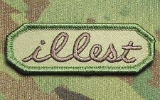 ILLEST TAB US ARMY USA MILITARY ILL ISAF TACTICAL MULTICAM MORALE HOOK PATCH