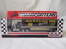 Matchbox Super Star 1992 Transporters Moly Black Gold Racing   #6124