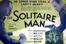 The Solitaire Man - 1933 - Herbert Marshall Mary Boland Pre-Code Drama Film DVD